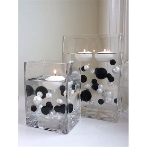 black and white party table centerpieces red white and black wedding centerpiece ideas