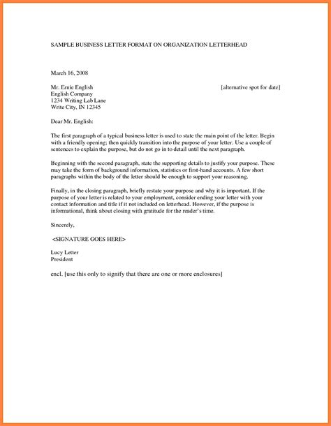 format for a business letter 5 format of business letter letters free sle letters 30937