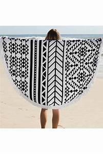 Serviette De Plage Ronde Eponge : serviette de plage 2 places tendance t 2015 avec ~ Teatrodelosmanantiales.com Idées de Décoration