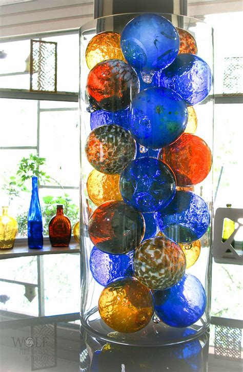recycled glass balls glass balls gorgeous way to display maybe centerpiece on dining table since i don t the
