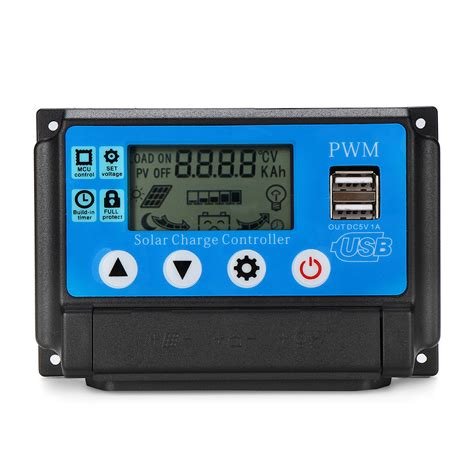 Pwm Auto Adapt Lcd Solar Charge Controller
