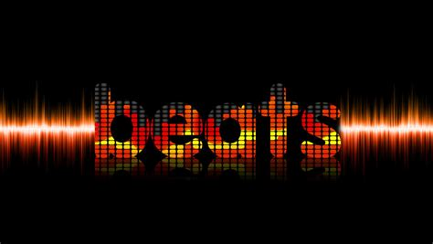 dj beat equalizer text effect sound wave beats by