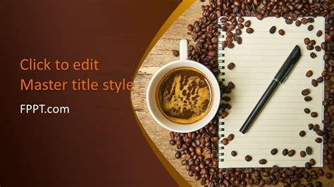 coffee beans  notepad powerpoint template
