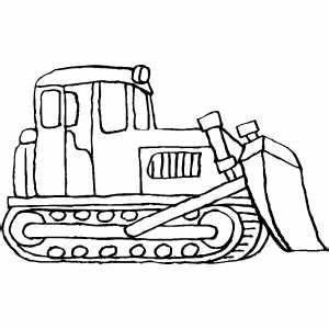 Standing Bulldozer | coloring pages | Pinterest | Craft