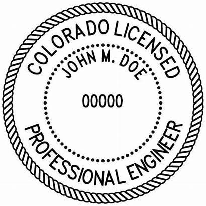 Stamp Colorado Engineer Surveyor Professional Stamps Pe