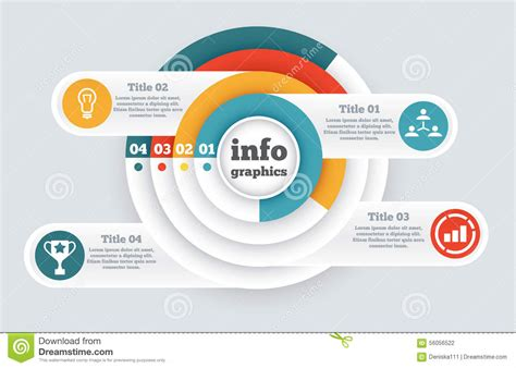 business circle infographic chart diagram stock vector