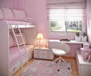 Kleines Sofa Kinderzimmer : etagenbett mit sofa und stauraum rosa wandfarbe und wei e m bel kinderzimmer pinterest ~ Markanthonyermac.com Haus und Dekorationen