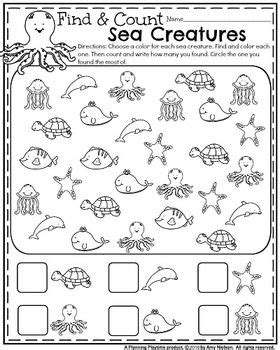 Summer Kindergarten Worksheets  Activities For The Punkins  Pinterest Kindergarten