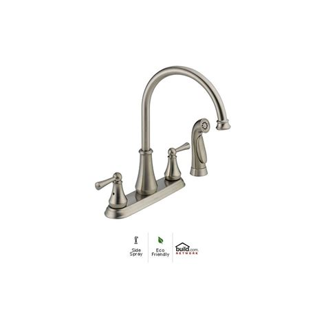 delta 21902lf ss brilliance stainless lewiston side spray