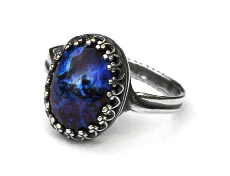 black opal galaxies and ring settings on pinterest