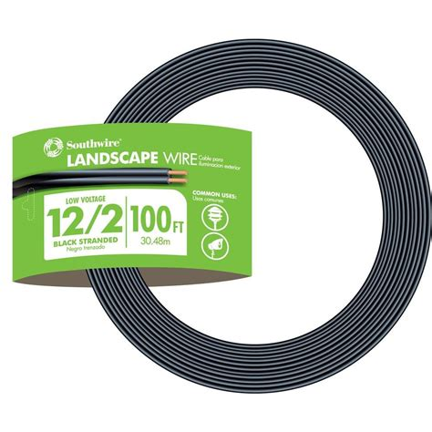Low Voltage Landscape Wiring Specification by Southwire 100 Ft 12 2 Black Stranded Cu Low Voltage