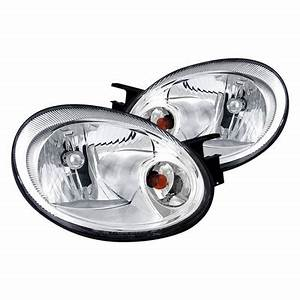 2003 2005 Dodge Neon Euro Style Crystal Headlights Chrome