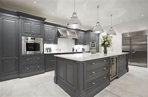 Luxury, Grey, Kitchen
