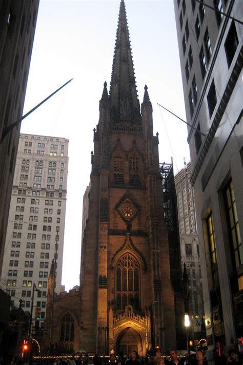 nyc fidi trinity church trinity church prominently