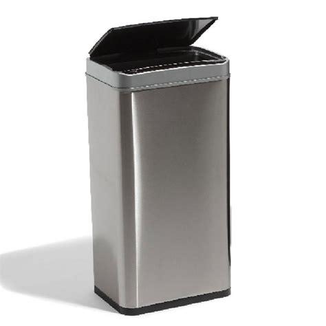 poubelle automatique avec seau gris metallise