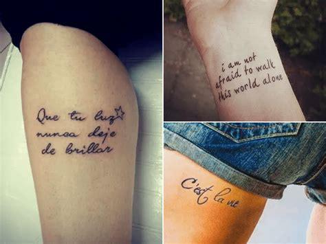 Tatuaje Antebrazo Mujer Frase Debunking Blog