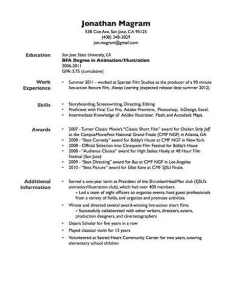 Include Gpa On Resume by What To Put On Your Resume F Resume