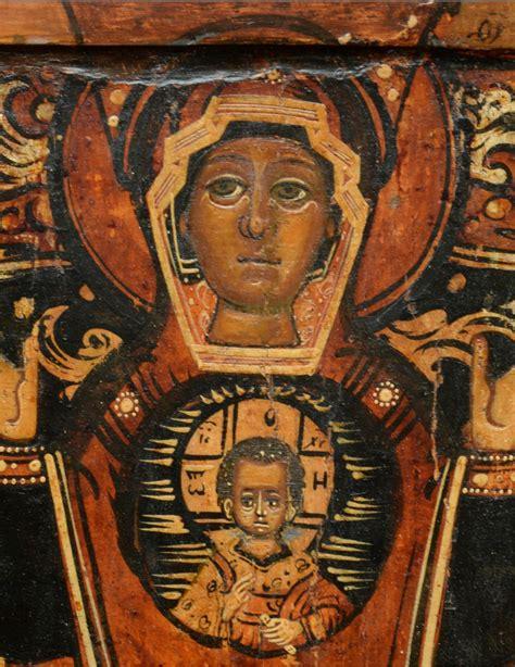 Icône Vierge De Signe vers 1650-80 - Ref.79853
