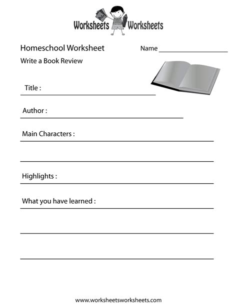 homeschool english worksheet  printable educational
