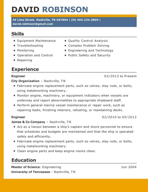 current resume formats current resume format