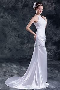 allens bridal chiffon and satin halter neckline chapel With satin sheath wedding dress