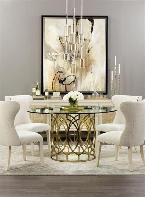 d 233 cor magnifique pour une salle 224 manger feng shui la grande table ronde en verre accueille
