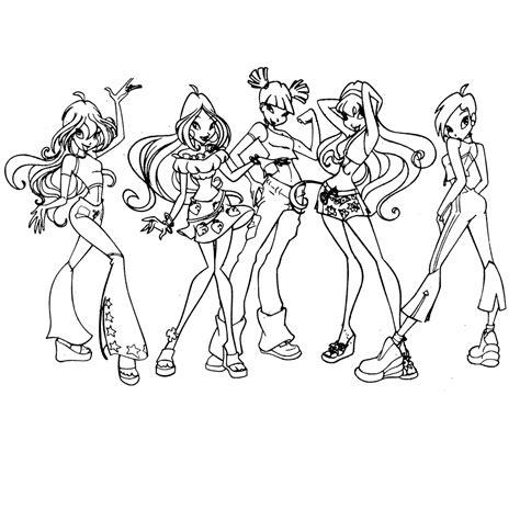 Winx Kleurplaat Bloom by Leuk Voor Winx Club 0005