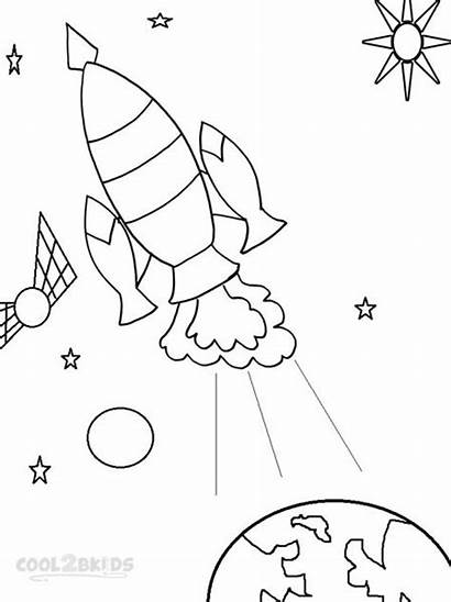 Coloring Spaceship Pages Space Drawing Printable Cool2bkids