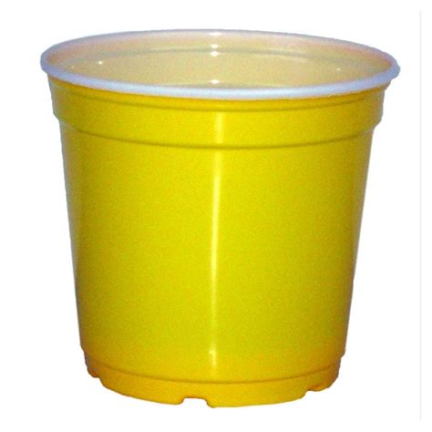 plastic planter 5 quot taller gloss yellow