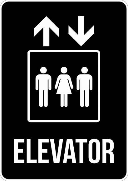 Elevator Lift Signs