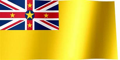 Niue Flag Waving Flags Animated Pacific South