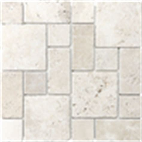 shop anatolia tile chiaro mixed pattern mosaic travertine