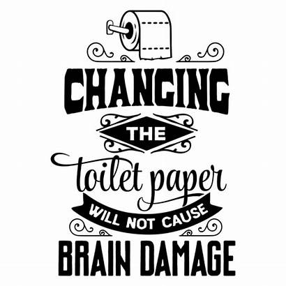 Paper Toilet Changing Cause Damage Brain Rectangle