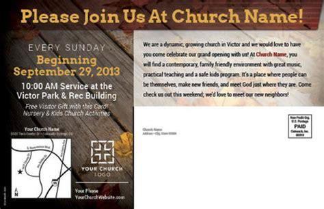 fall grand opening postcard church postcards outreach