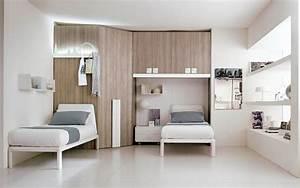 Armoire Lit Escamotable Et Lits Superposs Chambre D39enfant