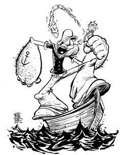 188 Best Popeye images | Popeye the sailor man, Popeye