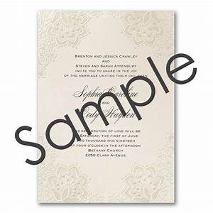 shimmering lace wedding invitation sample little flamingo With wedding invitations free samples australia