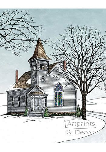 The Old Country Church By Terry Lombard Art Print Of