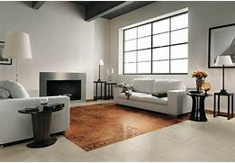 Living Room Tile Designs by Brown White Modern Living Room Tiled Floor Interior Design Ideas