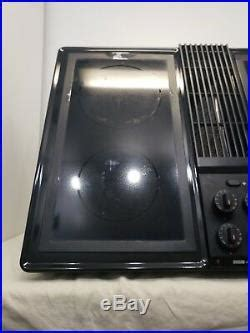 jenn air downdraft cooktop cb black stovetop range