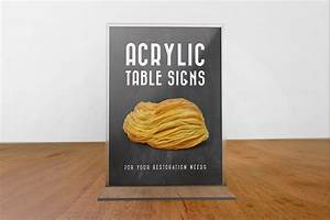 Acrylic, Table, Signs