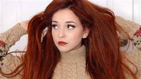 autumn hair color how to autumn orange hair dye tutorial