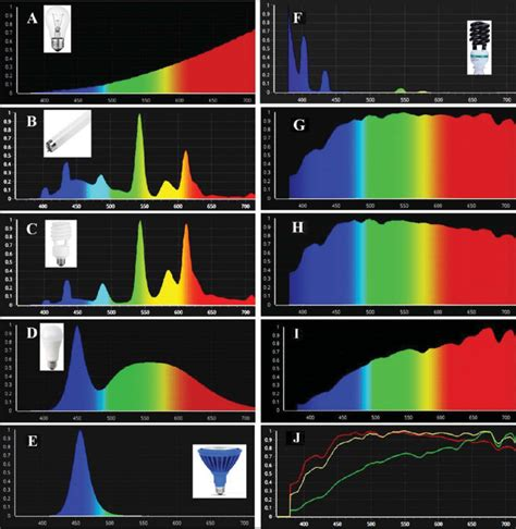 Spectrum Light Bulb by Emission Spectra Of Different Light Sources A