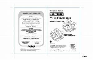 Craftsman 10865  4 In  Circular Saw Operator S Manual