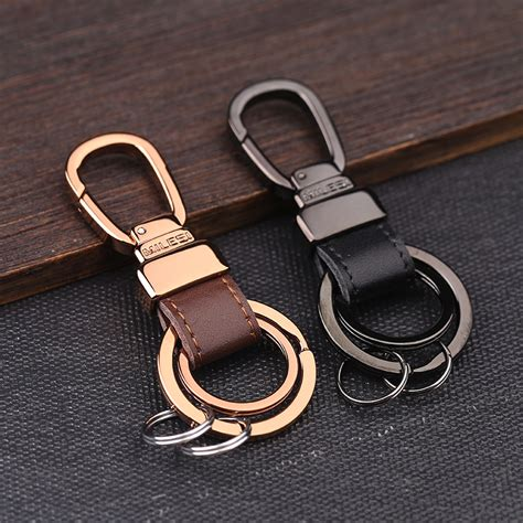 Milesi Fashion Brand Metal Car Keychain Men Luxury Key