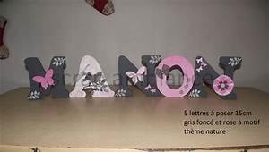 Lettre Decorative A Poser : lettre d corative grande lettre lettre en bois pr nom ~ Dailycaller-alerts.com Idées de Décoration