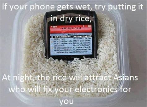 Phone In Rice Meme - irti funny picture 5122 tags life hacks phone rice asians fix