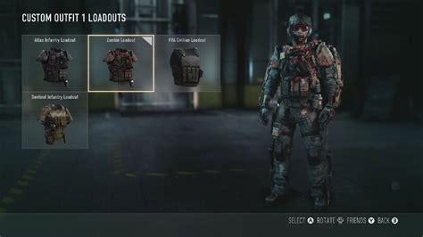 warfare advanced duty call loadout zombie zombies mode unlock custom videogamesblogger
