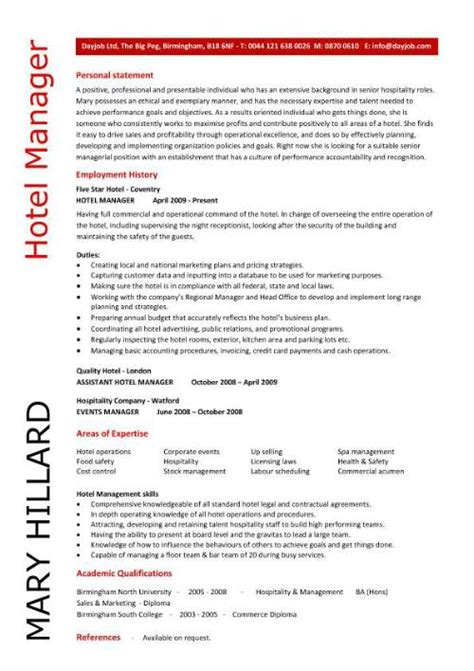 hotel manager resume printable planner template