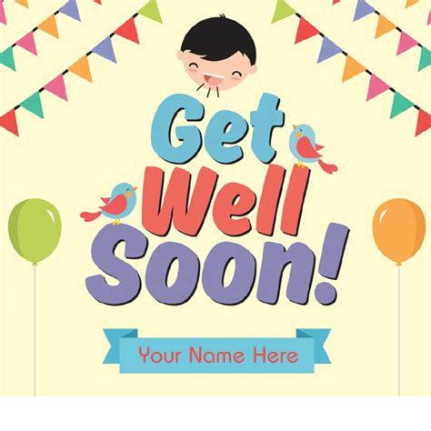 If you're an ag member you only pay the amount of the egift card. Write Name on Funny Get Well Soon Greeting Card